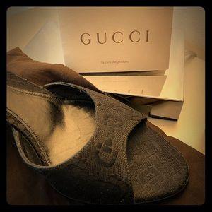 Gucci black mule